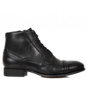 Boots noire en cuir New Rock M.VIP96007-C6
