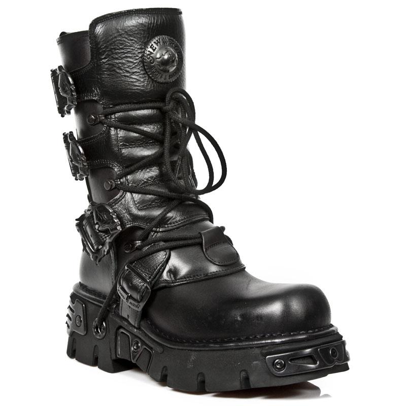 Stivali con zeppa della collezion Oxido Militar New Rock