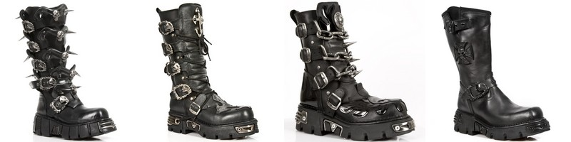 Botas Black Metal New Rock.