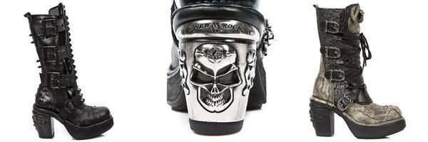 Bottes New Rock de la collection Nrk Skull