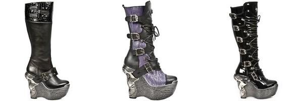 Stivali piattaforme gotiche di New Rock collezione Panzer