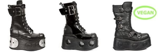Botas da plataforma gótica da Coleção Sapce New Rock