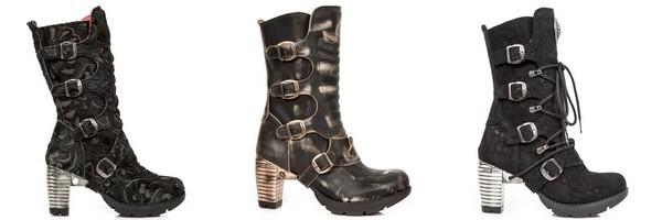 Stivali rock in pelle della marca New Rock collezione Trail