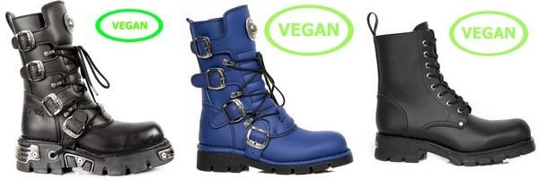 Stivali miste in pelle Vegetale del collezione Vegan di New Rock
