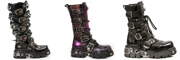 La botte gothique par New Rock de la collection Metallic