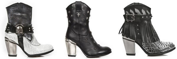 Bottines western collection Texas de New Rock
