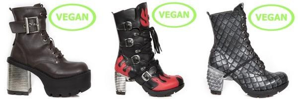 Stivali e stivaletti donna in pelle Vegan del collezione Vegan di New Rock