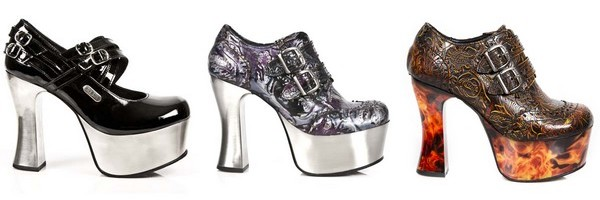 Chaussures gothiques New Rock collection Dark Metal