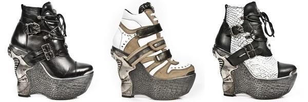 Sapatos plataformas Góticas do coleção Panzer de New Rock