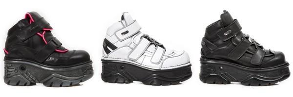 Zapatos plataformas de cuero de la colección Turbo de la marca New Rock