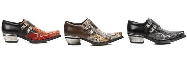 Sapatos urbanos em Píton do coleção Luxury New Rock