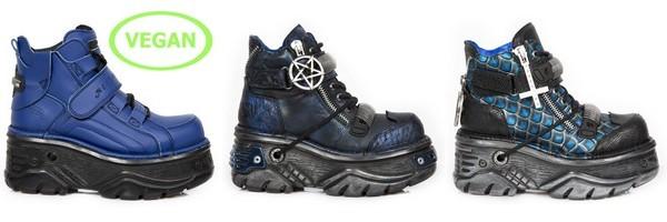 Sapatos altos de cunha Gótico da marca New Rock coleção Turbo