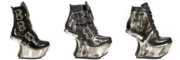 Stivaletti dark gotico della collezione Extreme di New Rock