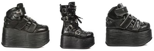 Sapatos e botas plataformas da coleção New Marte de New Rock