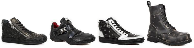 Sapatos e botas estilo Grunge de New Rock