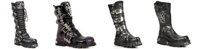 Bottes Dark Metal New Rock
