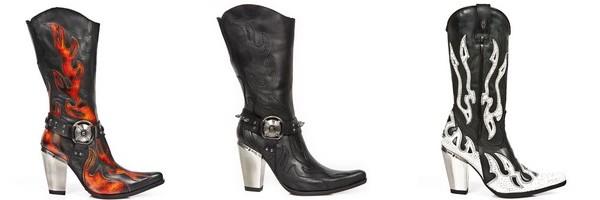 Stivali texani donna del collezione Bull di New Rock